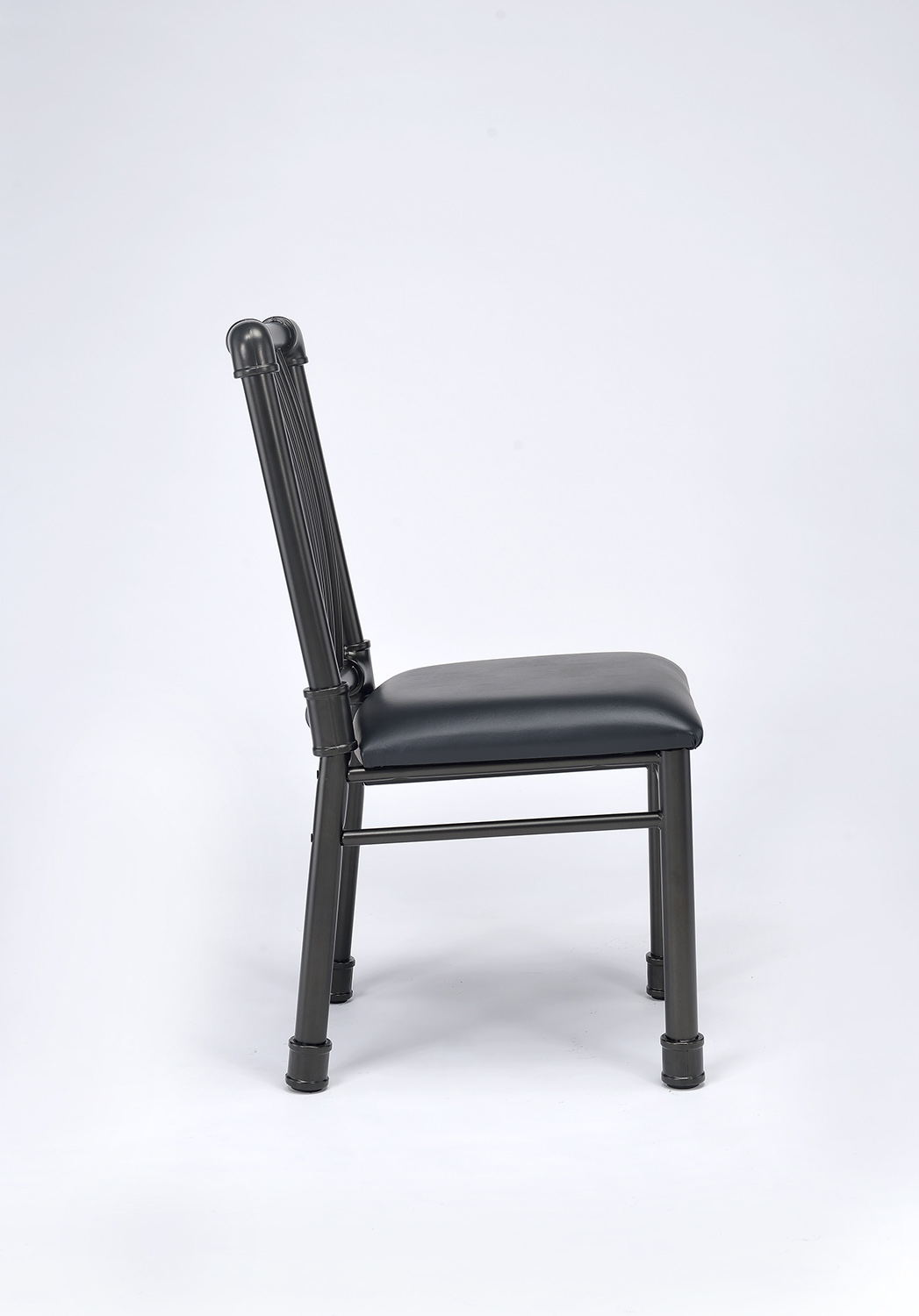 Acme Caitlin Side Chair - Black Vinyl/Black