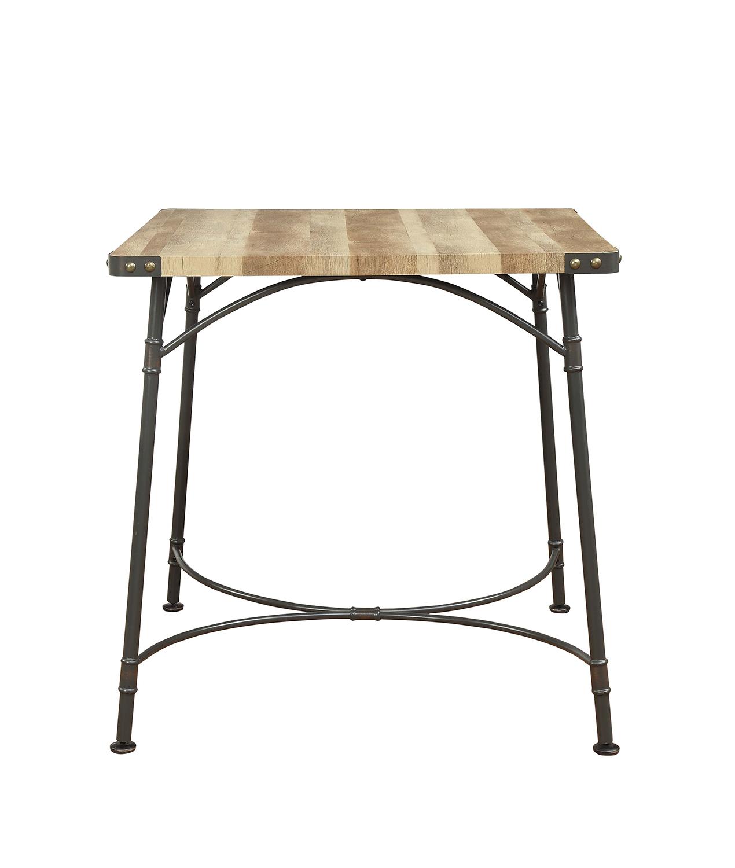 Acme Itzel Counter Height Table - Antique Oak/Sandy Gray