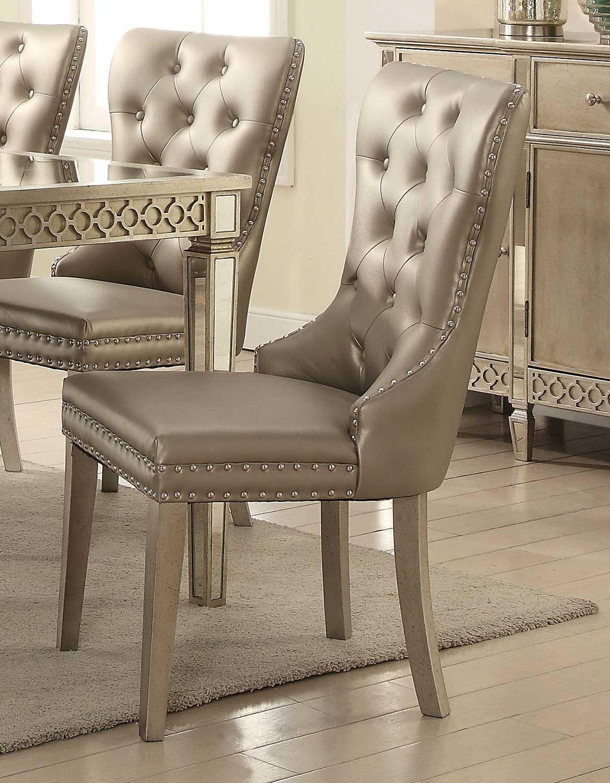 Acme Kacela Side Chair - Champagne