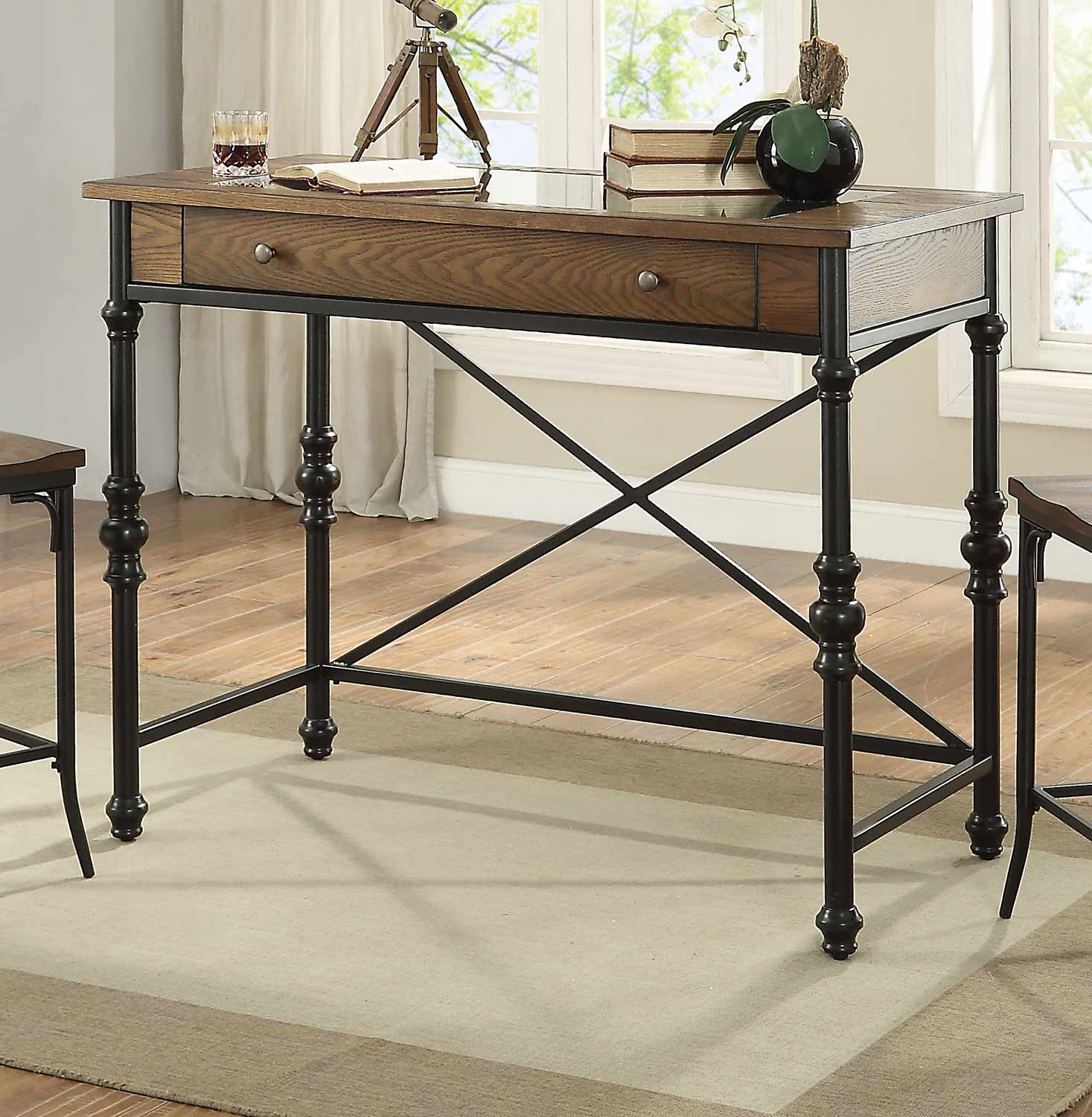 Acme Jalisa Counter Height Table - Walnut/Black