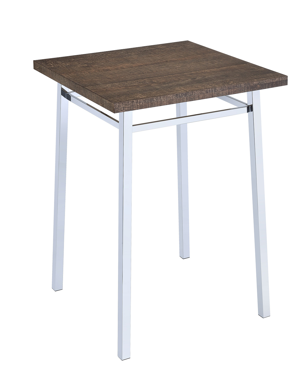Acme Nadie Bar Table - Oak/Chrome