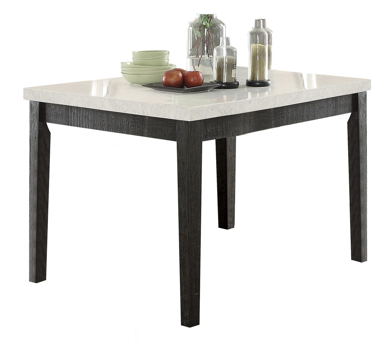 Acme Nolan Counter Height Table - White Marble/Salvage Dark Oak