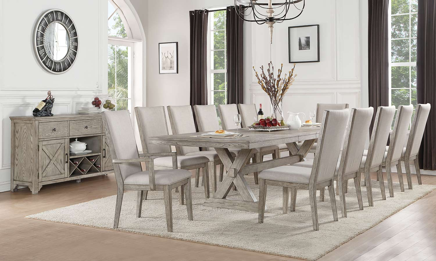 Acme Rocky Dining Set - Gray Oak