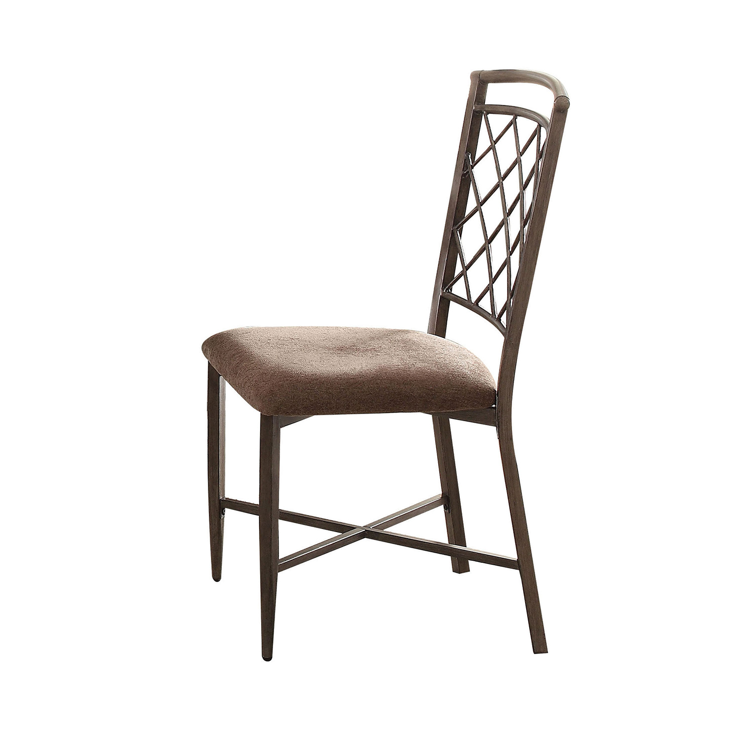 Acme Aldric Side Chair - Fabric Marble/Antique