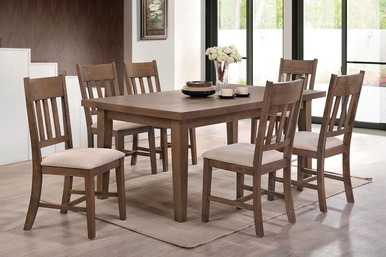Acme Ulysses Dining Set - Weathered Oak