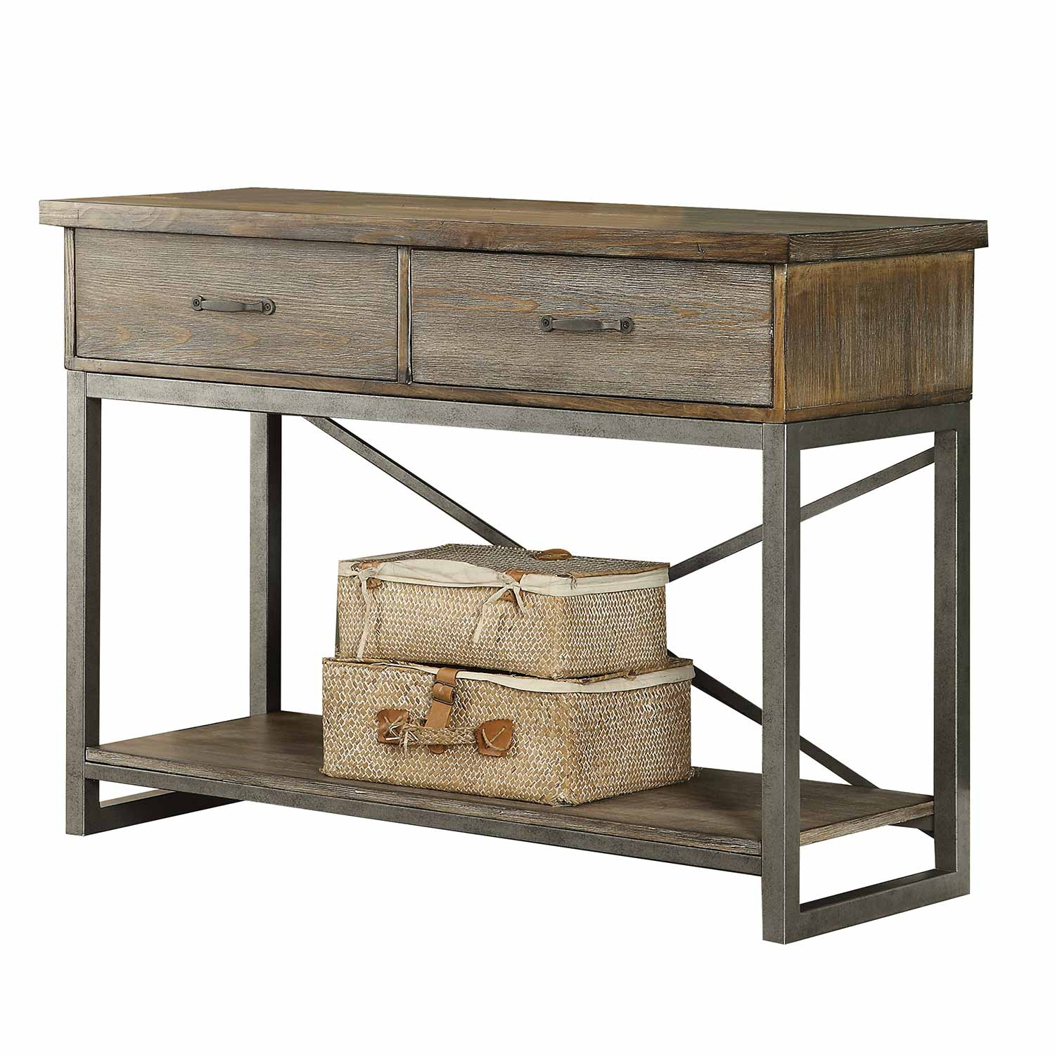 Acme Lazarus Server - Weathered Oak/Antique Silver