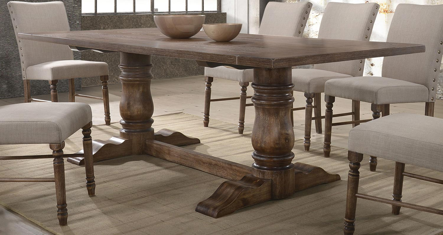 Acme Leventis Dining Table - Weathered Oak