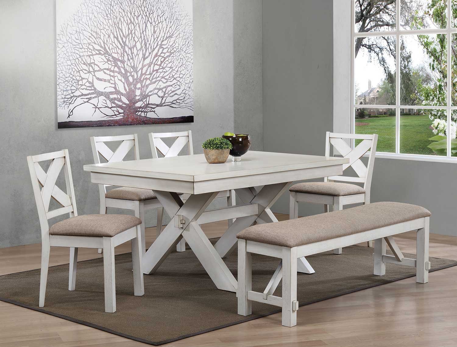 Acme Apollo Dining Set - Antique White