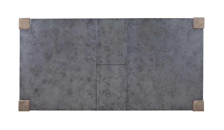 Acme Paulina II Dining Table - Dark Gray/Rustic Oak