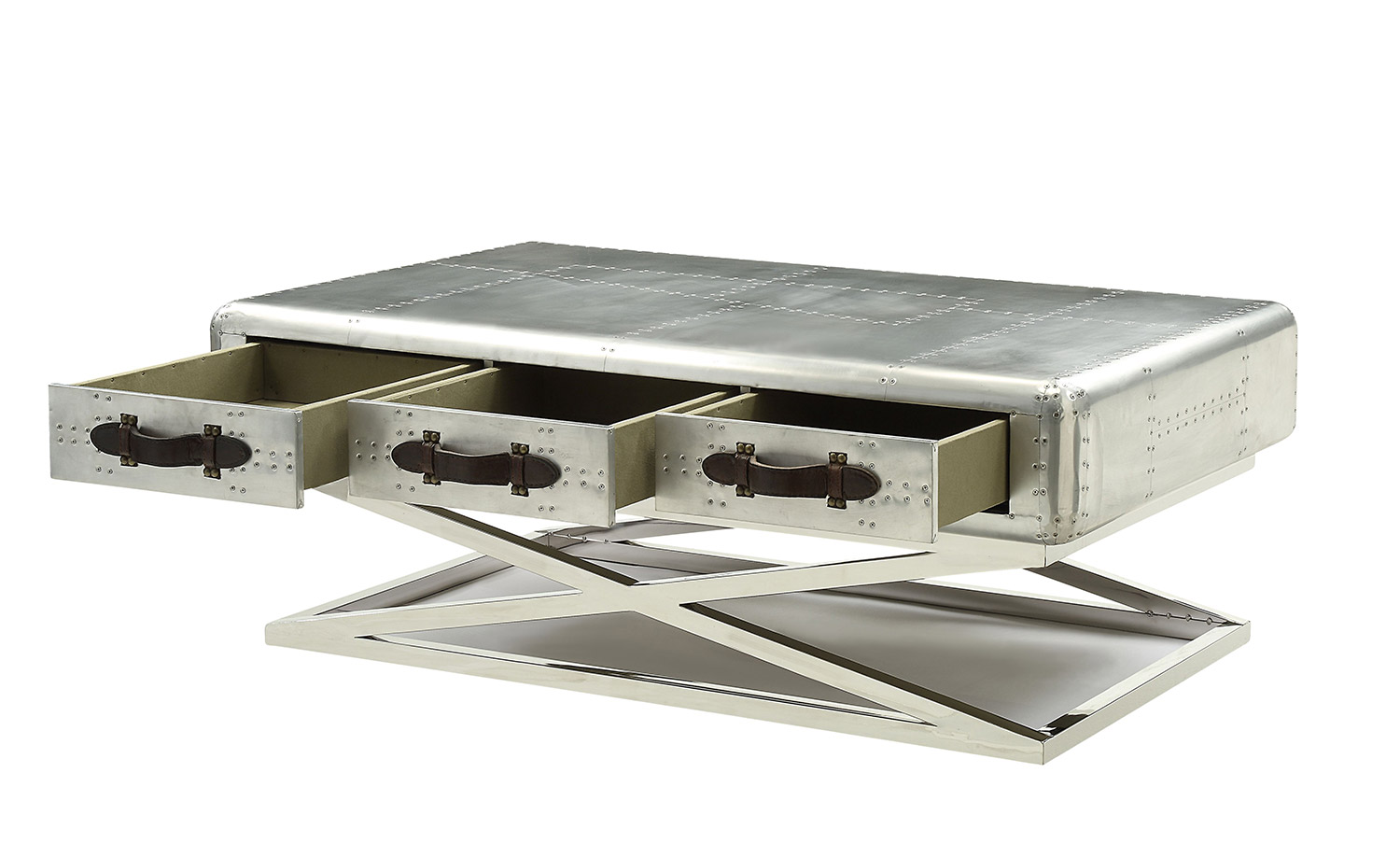 Acme Aberdeen (II) Coffee Table - Aluminum