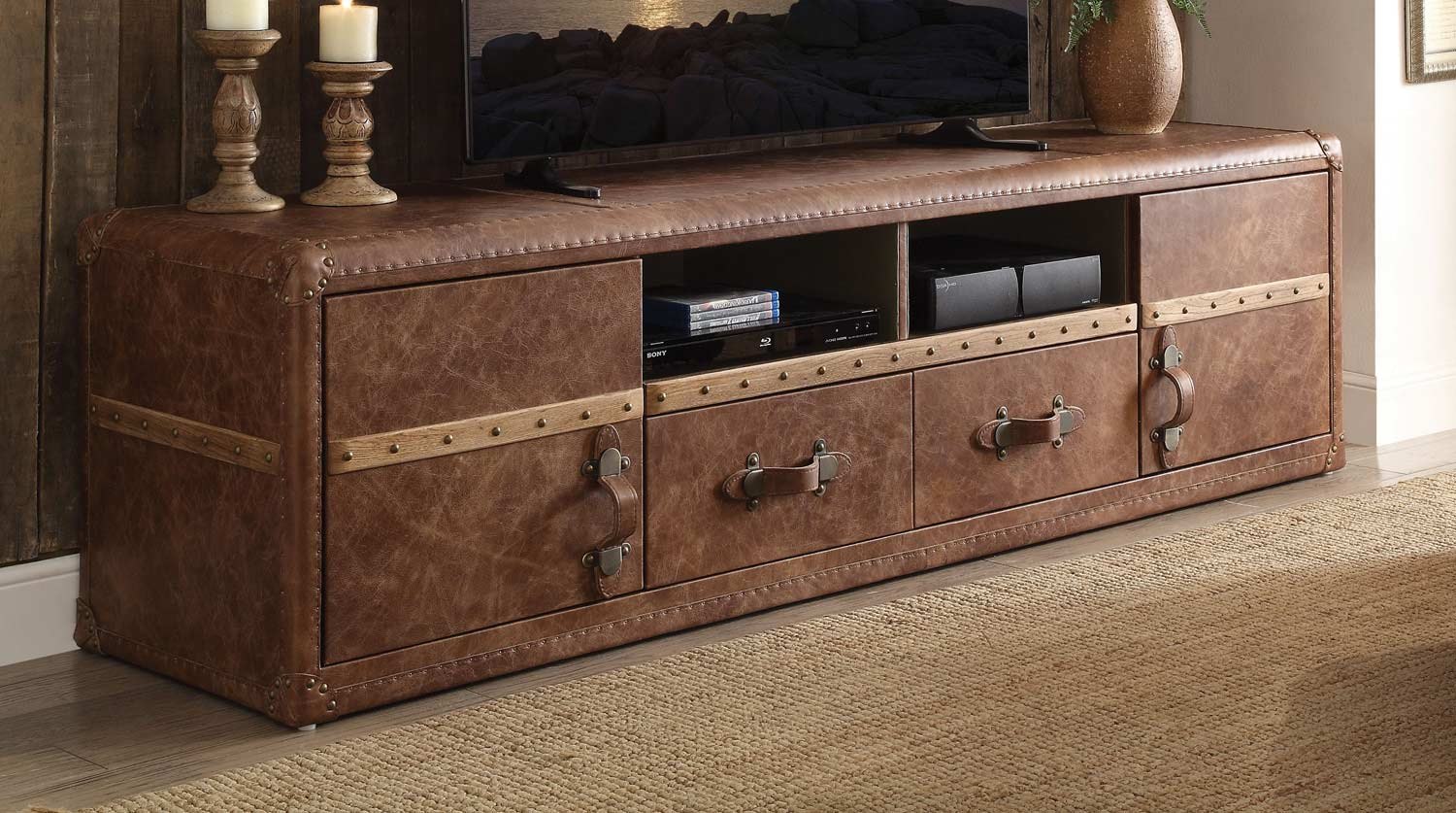 Aberdeen TV Stand - Retro Brown TGL