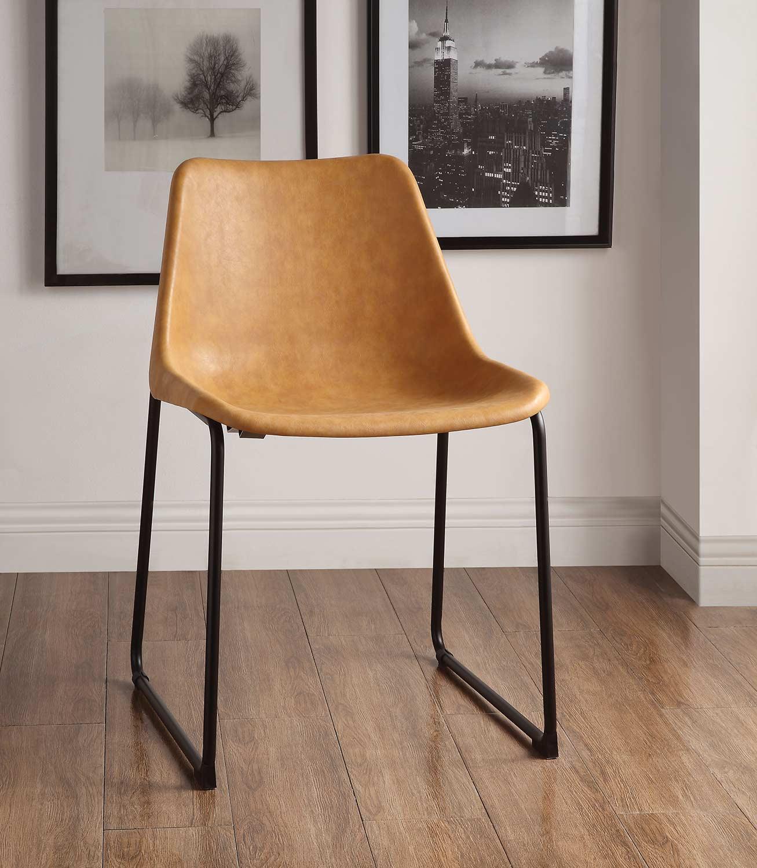 Acme Valgus Side Chair - Vintage Camel/Black