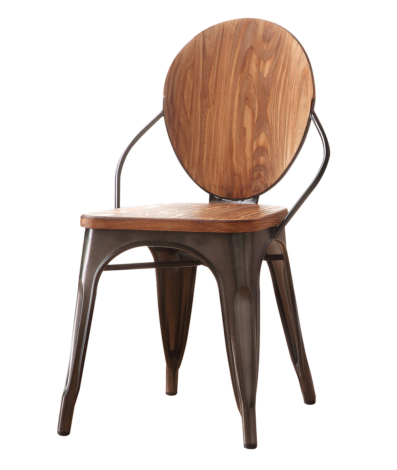 Acme Jakia III Side Chair - Natural/Gunmetal