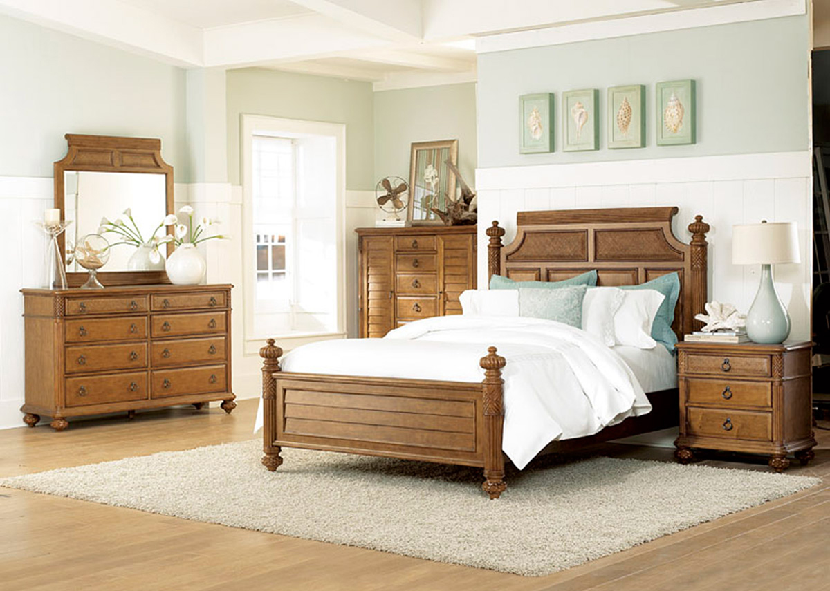 American Drew Grand Isle Bedroom Set - Amber
