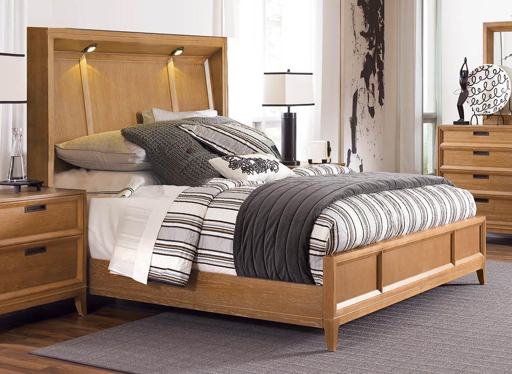 american drew sedona lighted panel bedroom set 081