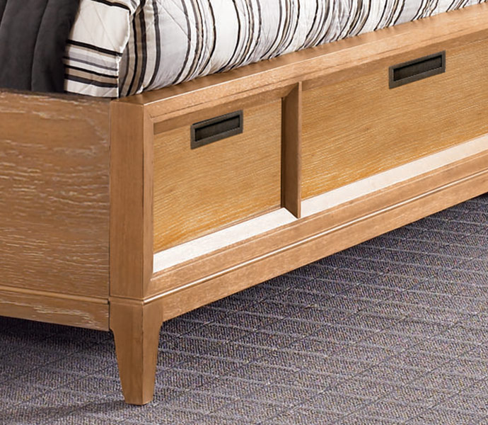 American Drew Sedona Lighted Storage Bed