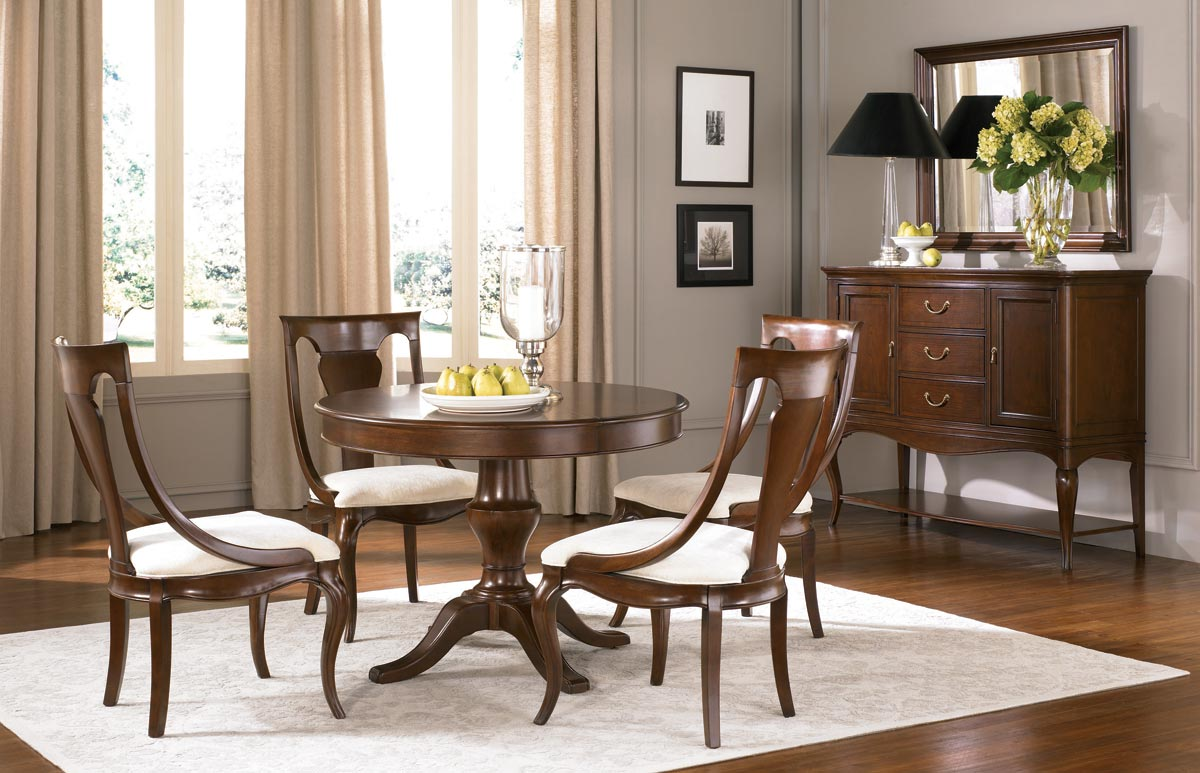 American Drew Cherry Grove The New Generation Pedestal Table Set