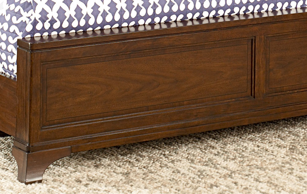 American Drew Essex Leather Accent Bed