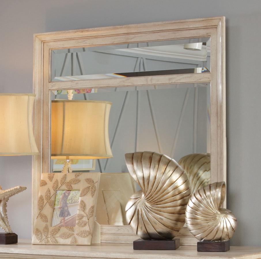 American Drew Americana Home Beveled Landscape Mirror - White