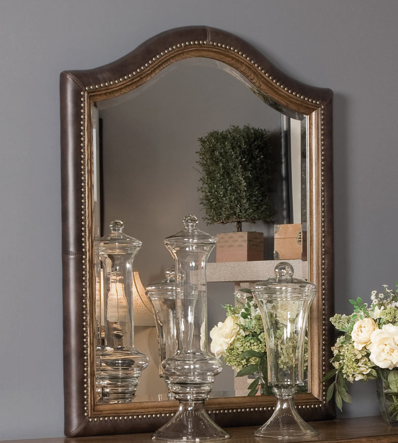 American Drew Americana Home Leather Mirror