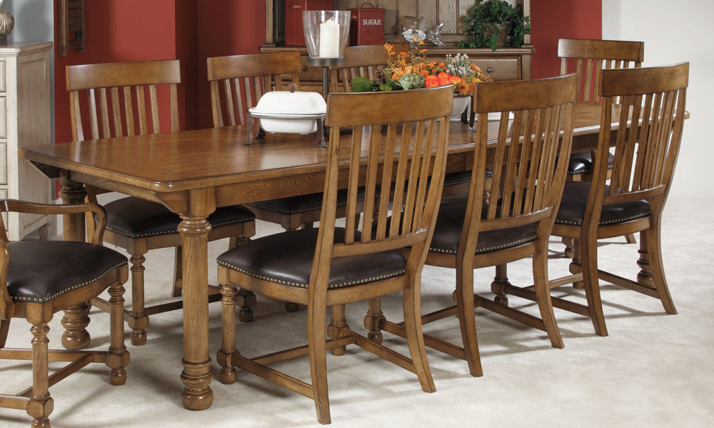 American Drew Americana Home Harvest Table Dining Set 114 760 Din Set At