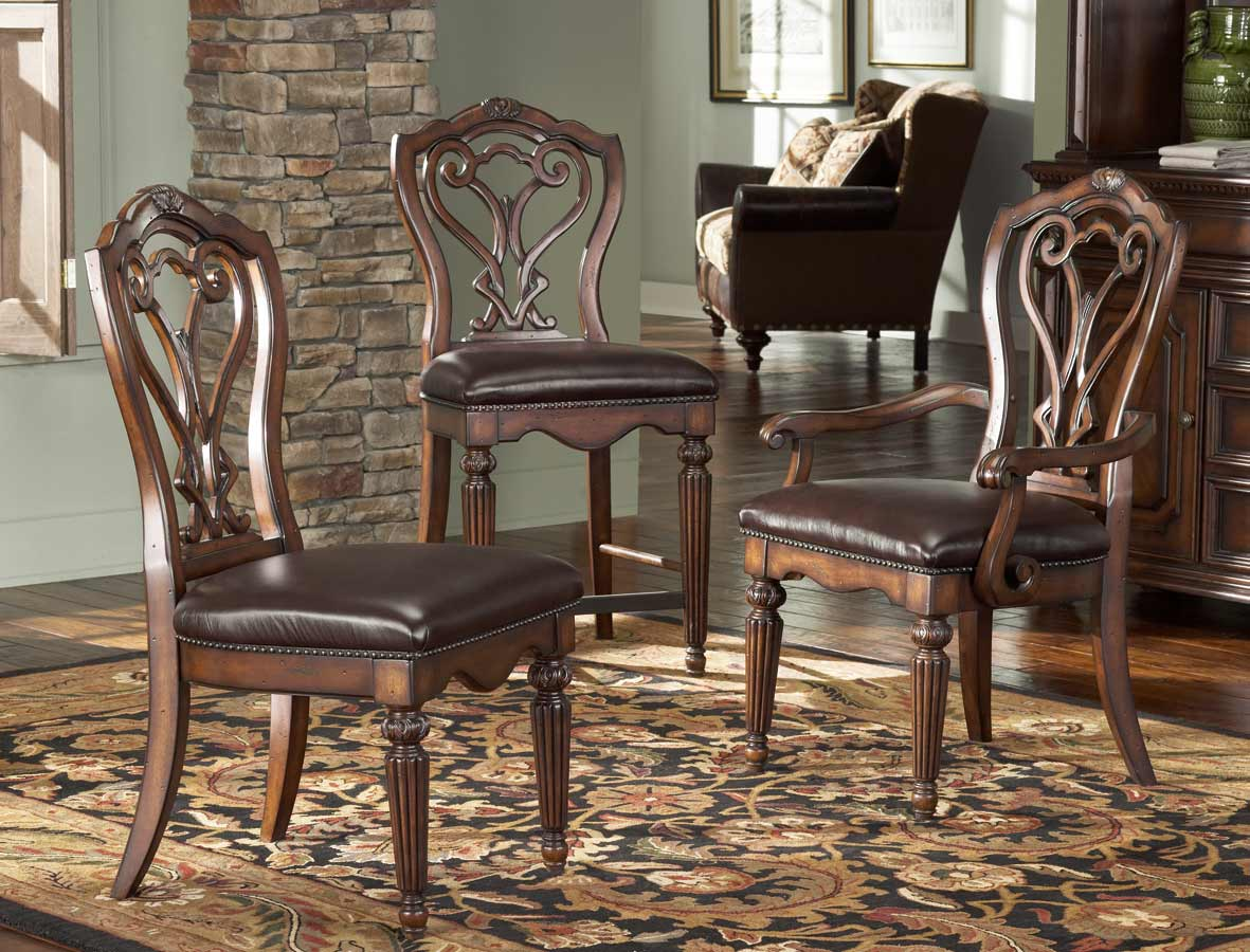 American Drew Barrington House Gathering Chair With Leather Seat ...