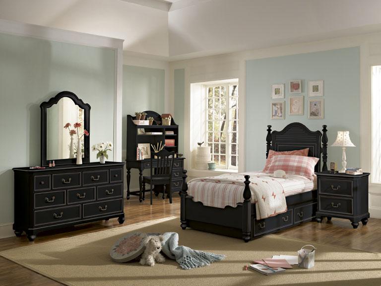 American Drew Retreat Panel Bedroom Collection - Black
