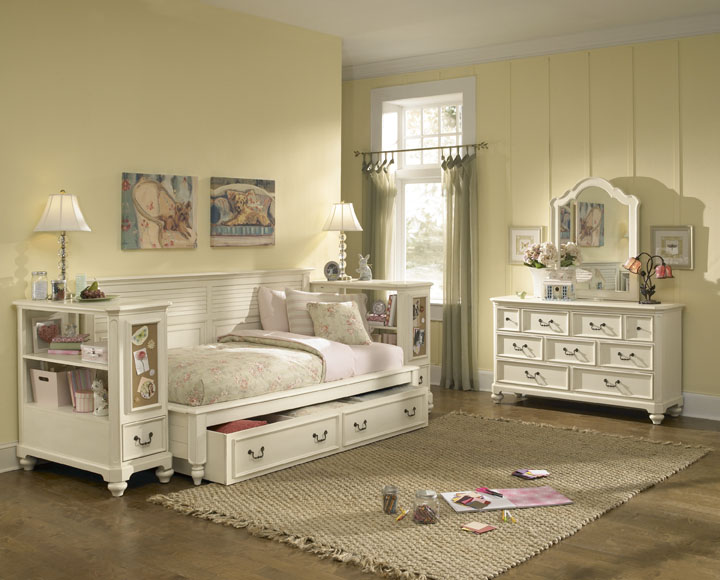 American Drew Retreat Sideways Bedroom Collection B - Antique White