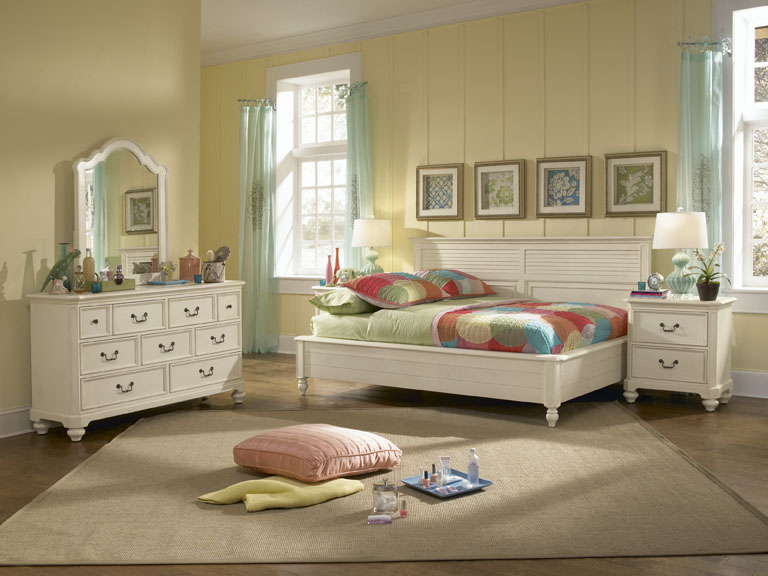 American Drew Retreat Sideways Bedroom Collection A - Antique White
