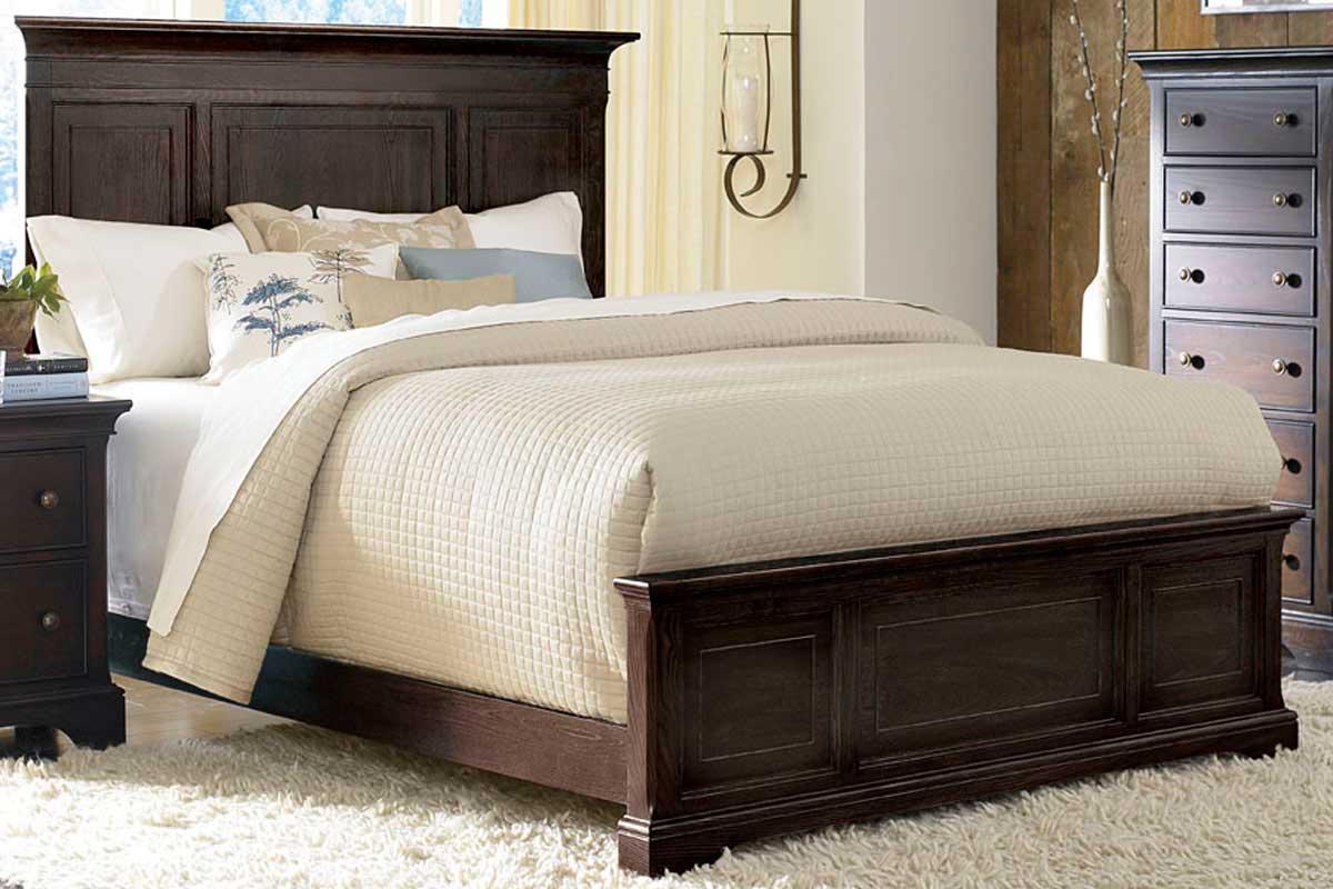 American Drew Ashby Park Peppercorn Panel Bed