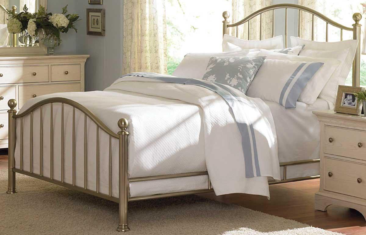 American Drew Ashby Park Plated Nickel Metal Bed