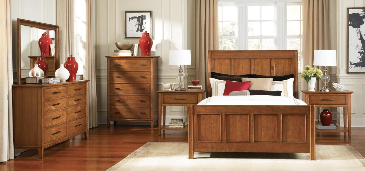 American Drew Valley Sleigh Bedroom Collection