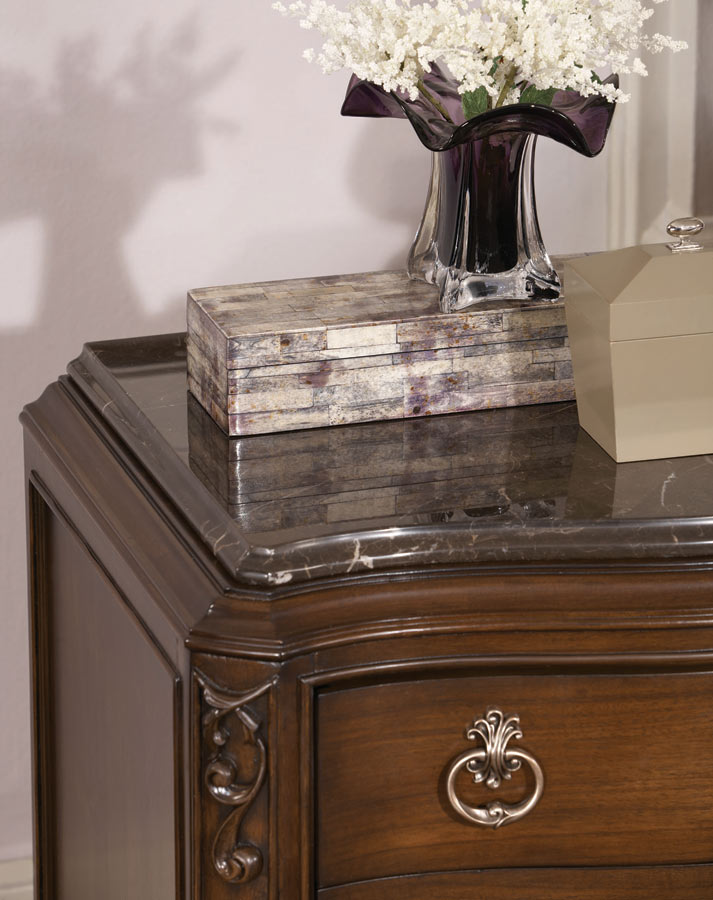 American Drew Jessica McClintock Couture Marble Top for Night Stand