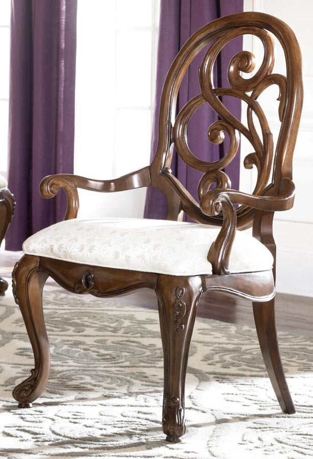 American Drew Jessica McClintock Couture Splat Back Arm Chair