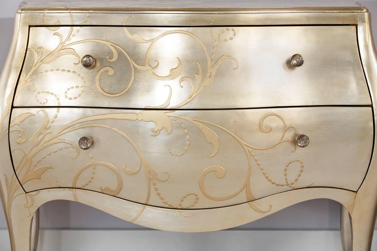 american drew jessica mcclintock couture silver leaf chest - Jessica Mcclintock Bedroom Furniture