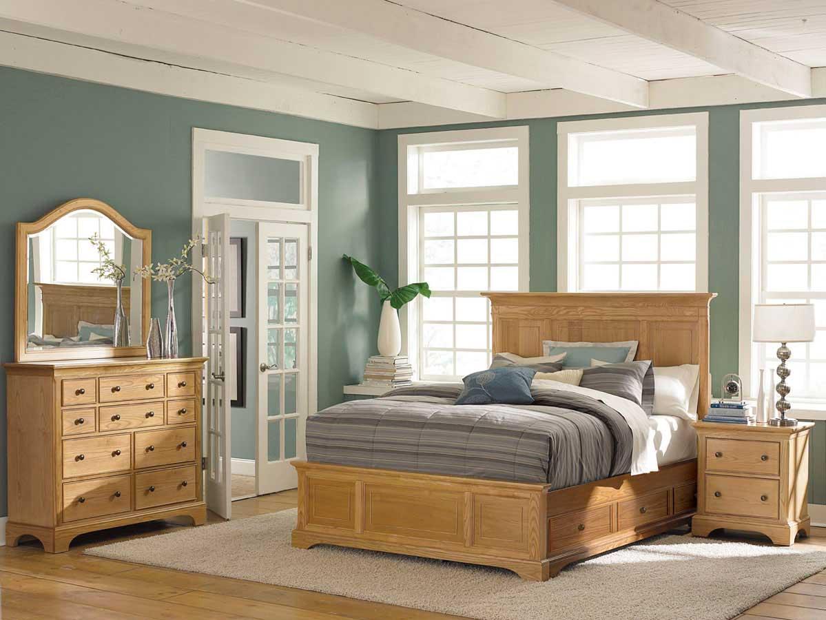 American Drew Ashby Park Natural Bedroom Set