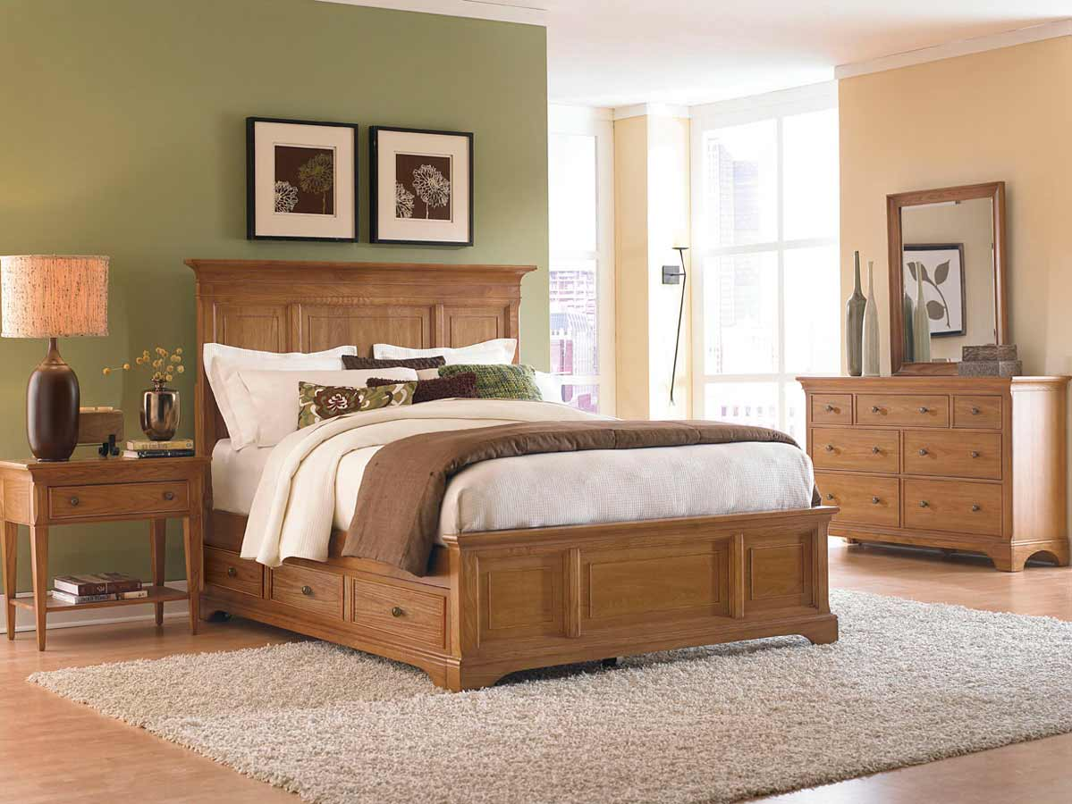 American Drew Ashby Park Nutmeg Bedroom Set