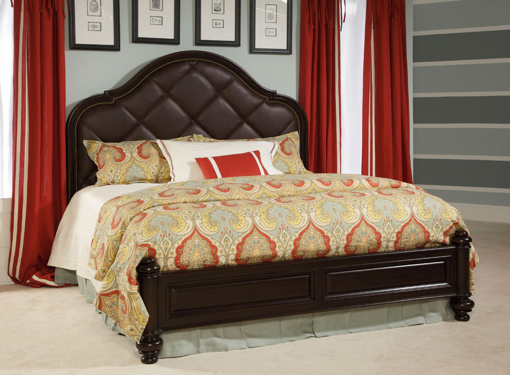 American Drew Carriage Place Leather Panel Bedroom Set