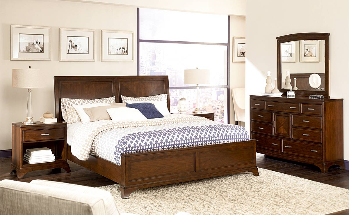 American drew ad r bed set contemporary bedroom by american ...