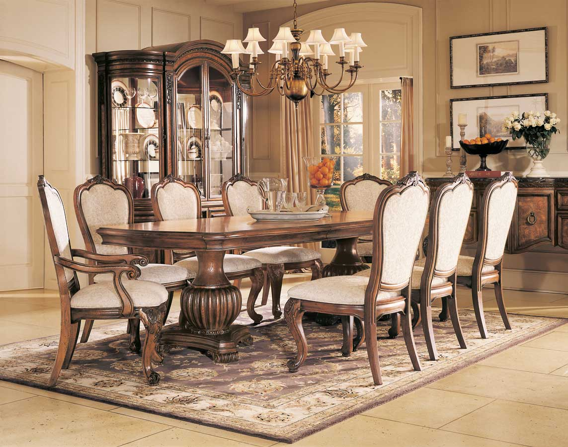 American Drew Grand Revival Dark Double Pedestal Dining Collection
