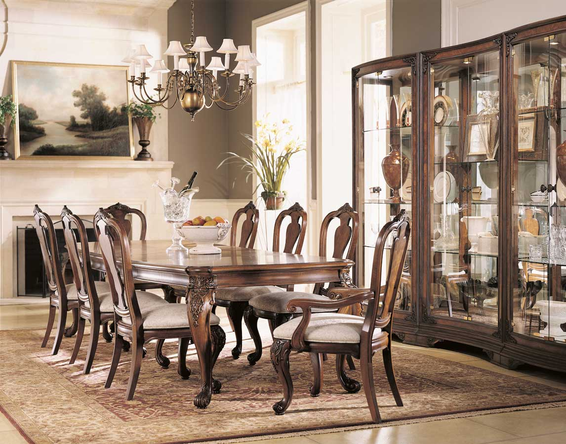 American Drew Grand Revival Dark Leg Dining Collection