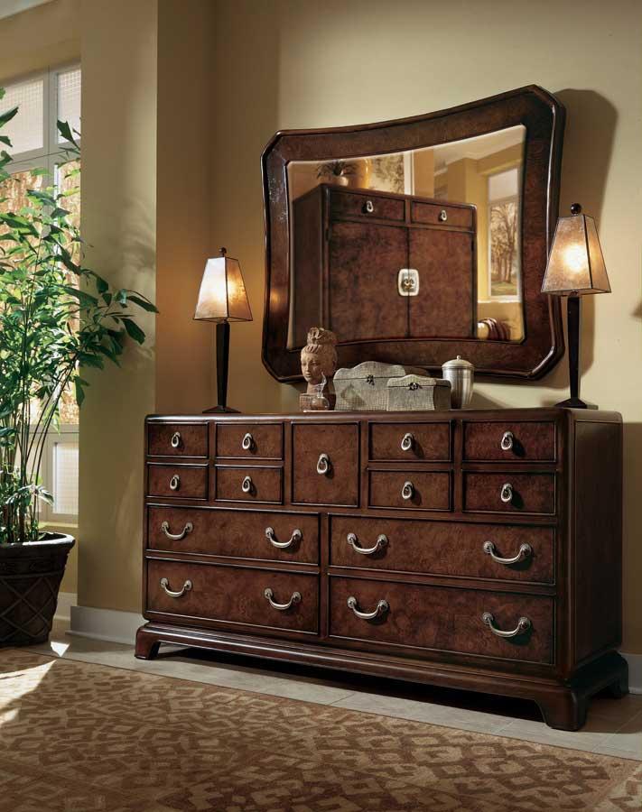 American Drew Tansu Triple Dresser