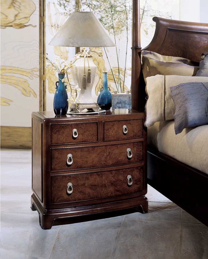 American Drew Tansu Night Stand with Wood Top