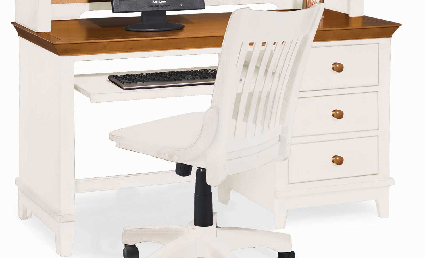 Sterling Pointe Computer Desk White Maple-American Drew