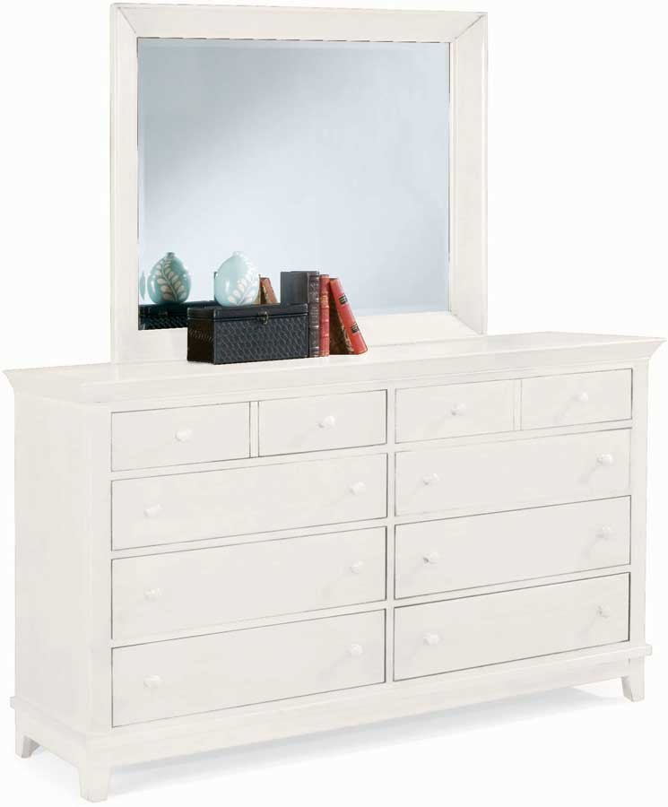 American Drew Sterling Pointe Triple Dresser White