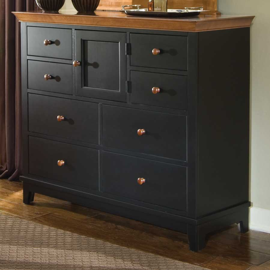 Cheap American Drew Sterling Pointe Dressing Chest Black