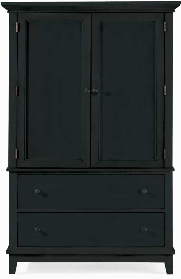 American Drew Sterling Pointe Door Chest Black