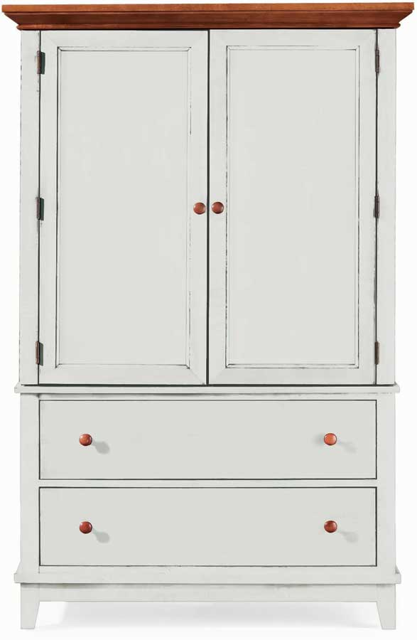 American Drew Sterling Pointe Door Chest White Cherry