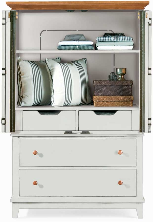 American Drew Sterling Pointe Door Chest White Maple