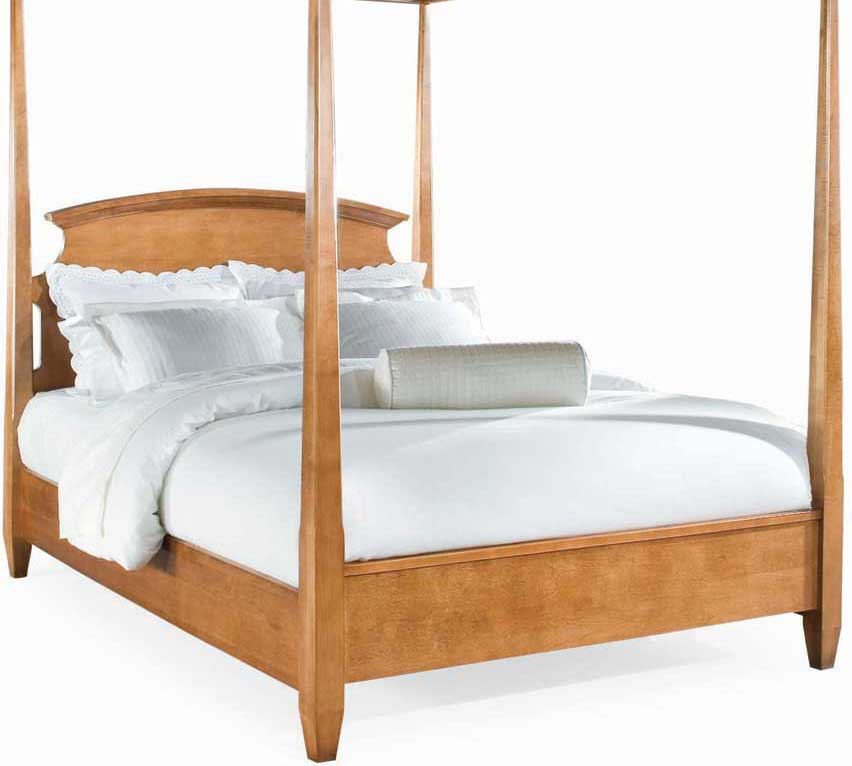 American Drew Sterling Pointe Poster Bed Maple